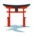 torii gate japanese symbol architecture and vector image vector image