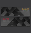 two abstract black banners business design vector image vector image