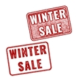 Two realistic Winter Sale stamps on white vector image vector image