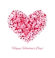 Valentines day love background with heart vector image vector image