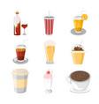 various beverage cafe set vector image