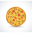 Vegetarian pizza vector image