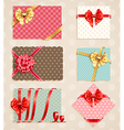 vintage bow collection1 vector image vector image