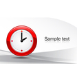 Watch on abstract background vector image vector image