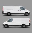 white commercial cargo minivan template vector image vector image