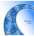 Winter frozen glass background Swirl border vector image