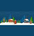 winter urban landscape christmas and new year vector image vector image