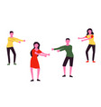 young people dancing popular floss dance flat vector image