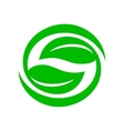 Green leaves icon simple style vector image