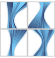 Blue halftone wave backgrounds collection vector image