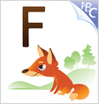 Animal alphabet for the kids F for the Fox vector image