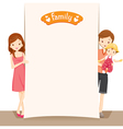 Couple And Baby With Blank Sign vector image