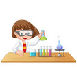 a lab kid character vector image vector image