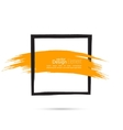 Abstract background with square banner vector image vector image
