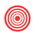 archery red of target on white vector image