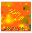 autumn with colorful different leaves vector image vector image