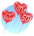 balloons hearts sale vector image