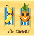 banana cartoon character vector image vector image