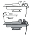 Bench vise vector image