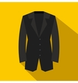 Black classic jacket icon flat style vector image vector image