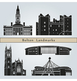 Bolton landmarks and monuments vector image vector image