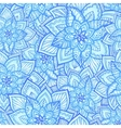 Bright blue floral seamless pattern vector image vector image