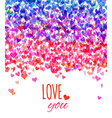 Bright Valentines background vector image