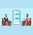 business correspondence businessman communicates vector image vector image