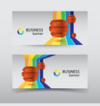 business infographic horizontal banners vector image vector image