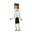 businesswoman executive avatar vector image vector image