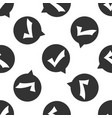 check mark in circle icon seamless pattern vector image vector image