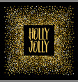 christmas banner holly jolly vector image