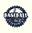 circle emblem baseball junior tournament vector image