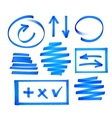 Collection of bright blue highlighter vector image vector image