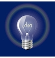 Concept ideas in the form of light bulb on a blue vector image vector image