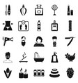 cosmetology icons set simple style vector image vector image