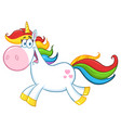 cute magic unicorn character running vector image vector image