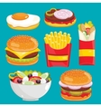 Fast food menu set vector image vector image
