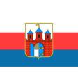 flag of bydgoszcz in kuyavian-pomeranian vector image vector image