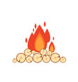 flat style of bonfire isolated vector image vector image