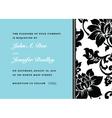 floral side pattern and frame vector image vector image