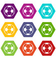 football icons set 9 vector image