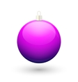 Gradient christmas purple ball vector image
