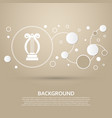 harp icon on a brown background with elegant vector image vector image