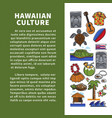 hawaiian culture elements promo poster with sample vector image vector image