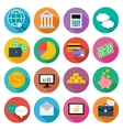 Icon set for finance investment management vector image vector image