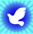 international peace day white dove background vector image