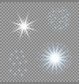 light stars blue glare for your design vector image