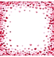 Lovely heart frame with confetti hearts vector image vector image