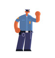 male police officer holding hand with stop gesture vector image vector image